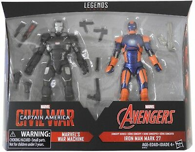 *MINT* Marvel Legends WAR MACHINE IRON MAN MARK 27 action figure 2-pack