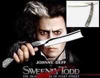 Rasoio Sweeney Todd + Panno Johnny Depp Barbiere Barba Cut Throat - barbie - ebay.it