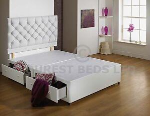 New white 3ft 4ft6 5ft 6ft size luxury divan bed base for 6ft divan base ireland