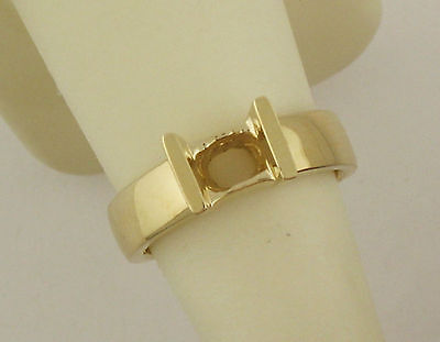 14k 5mm Princess Cut Mount - 3/4CT PRINCESS CUT RING MOUNTING 14K YELLOW GOLD FOR 5 MMx5 MM DIAMOND