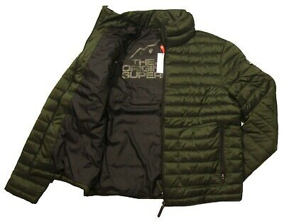 Superdry Men's Olive Green Double Zip Puffer Fuji Jacket