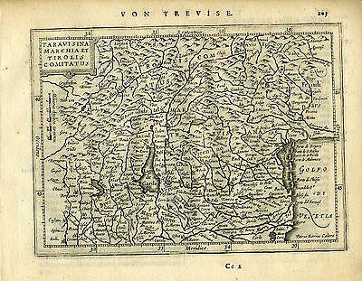1651 Genuine Antique map Italy, Gulf Venice, Ferrara, Verone. Mercator/Jansson