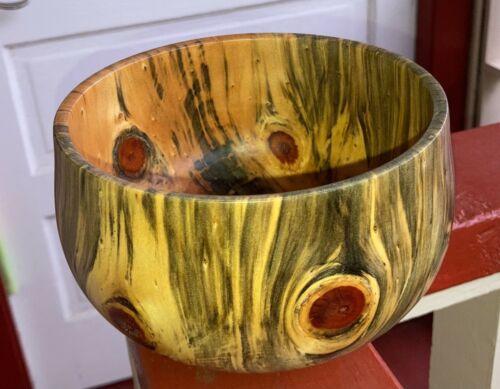Hawaiian Wood Bowl Norfolk Pine~Local Artist~Gallery & Collector Quality (721-1)