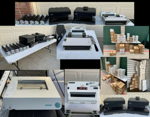 LARGE LOT GBC MAGNA PUNCH - COIL BINDING EQUIPMENT & SUPPIES