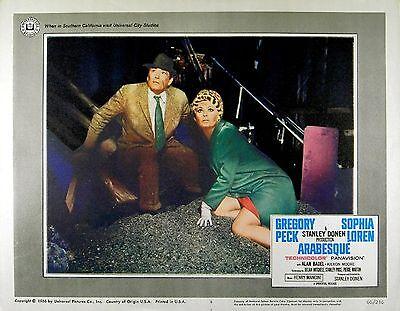 ARABESQUE 1966 Sophia Loren Gregory Peck Stanley Donen  LOBBY CARD #8