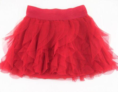 Girls GAP KIDS solid red tutu skirt 6 7 vertical ruffle Christmas Valentines Day