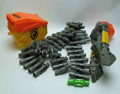 Nerf N Strike Vulcan Replacement Ammo Box. With Belts (2), Stand