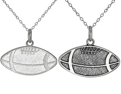 Sterling Silver .925 Football, Sports Charm Pendant Necklace | Made in USA](Football Necklaces)