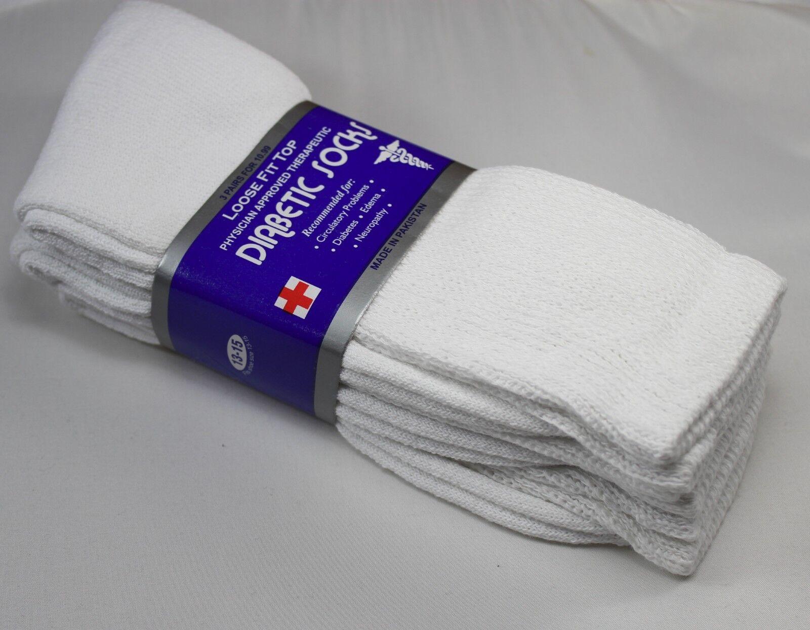 3,6 or 12 dozen Pairs Diabetic Crew Circulatory Socks Health Mens Cotton 9 10-15