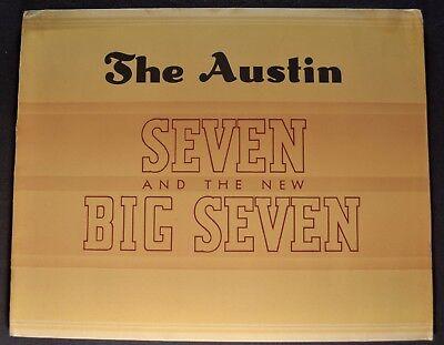 1938 Austin Seven Big 7 Catalog Brochure Ruby Pearl Excellent Original 38