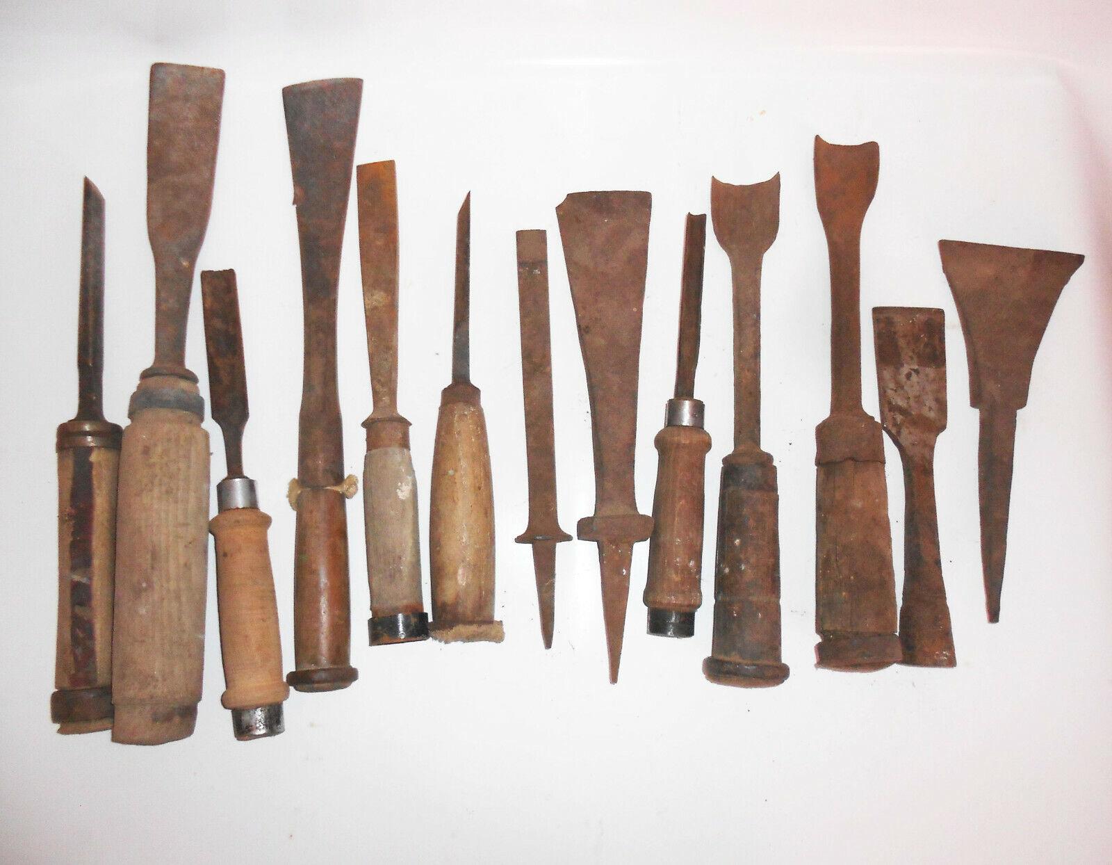 Konvolut alte Stechbeitel, Stemmeisen, Zimmermann, Schreiner, Werkzeug 65 Teile