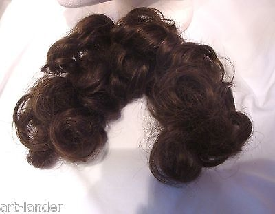 Vtg Brown Brunette Short Curly Hair Piece for bun 13