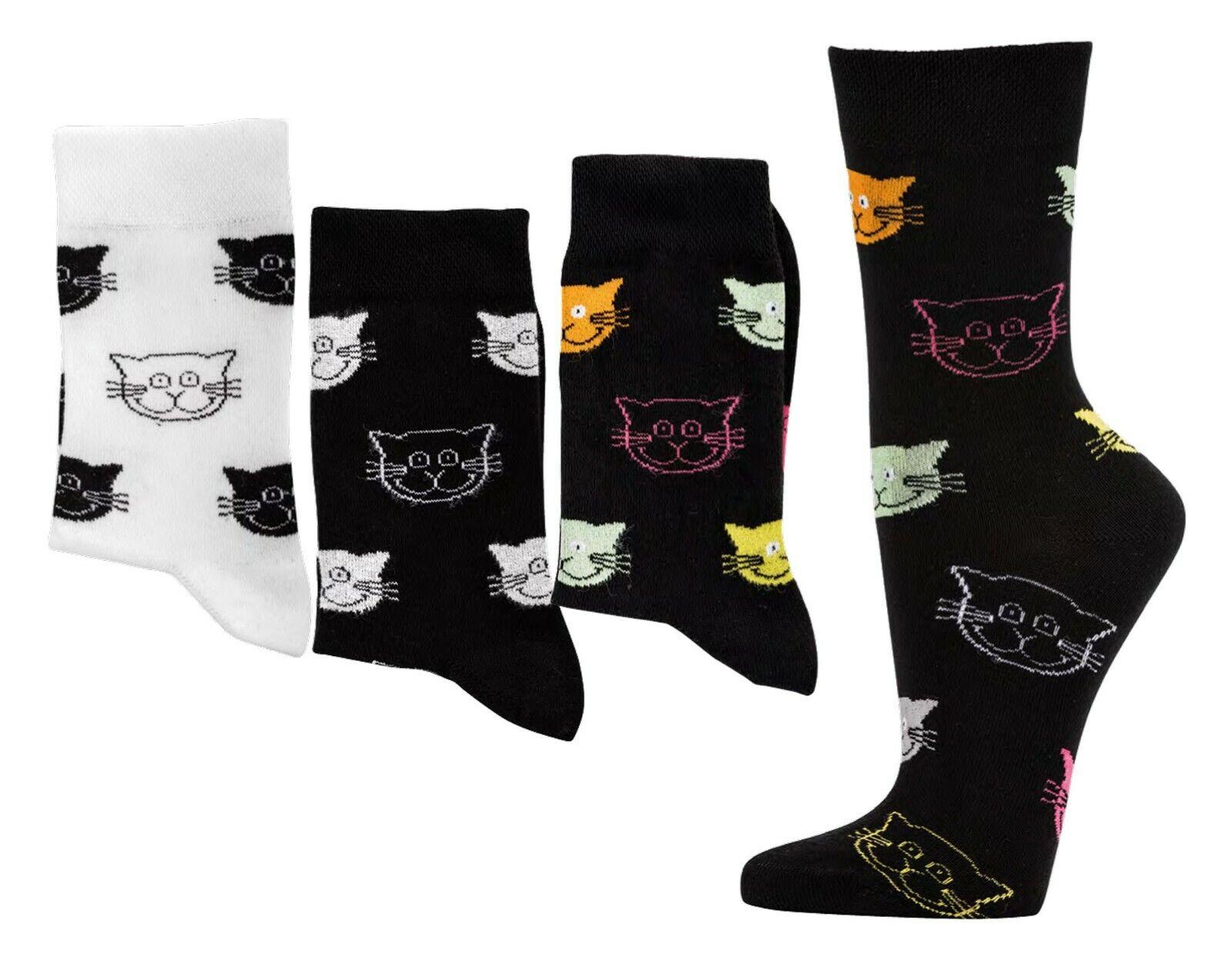 """3 Paar Damen Söckchen Socken Strümpfe Motiv """"Engel/Flamingo/Kaktus…"""" Gr.35-42"""