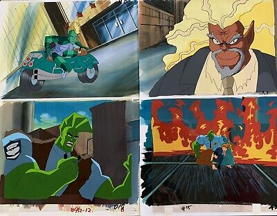 The Savage Dragon Lot of 22 Animated Cels & Sketches Original Production (ac4.1)