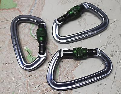 Black Diamond Positron Screwgate Carabiner 3pak Climbing Rock Trad Biner Locking
