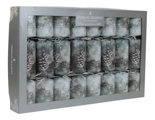 Harvey & Mason Premium Christmas Winter Pinecone Extra Large Christmas Crackers