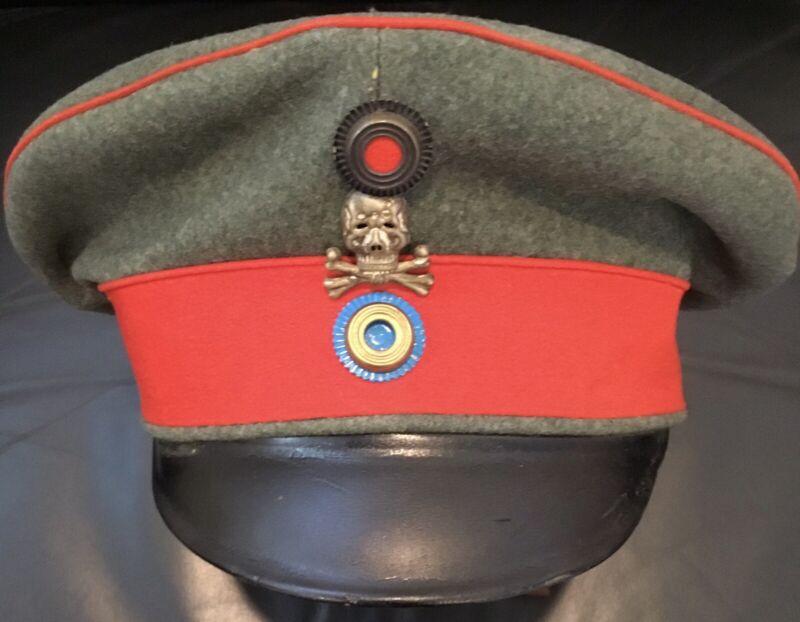 Imperial German,WW 1,Minty Braunschweig Infantry Officer's Feldgrau Visor Cap