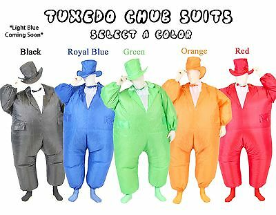 Adult Chub Suit® Inflatable Blow Up Color Dress Party Tuxedo Jumpsuit Costume](Chub Suit Halloween)