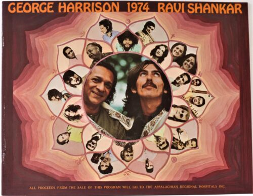 *** GEORGE HARRISON *** 1974 concert tour program - RAVI SHANKAR - 47 years old