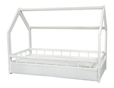 Scandinavian style kids bed+ ECO mattress,set,house bed 160x80+barriers