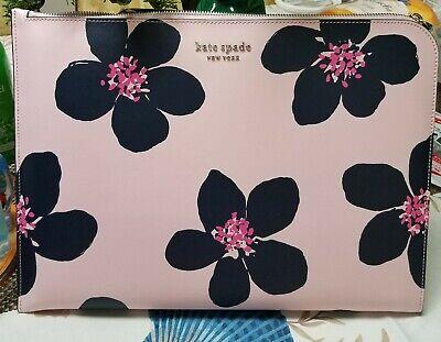 Kate Spade cameron grand flora cameron flora l-zip laptop sleeve PINK/MULTI,NWT