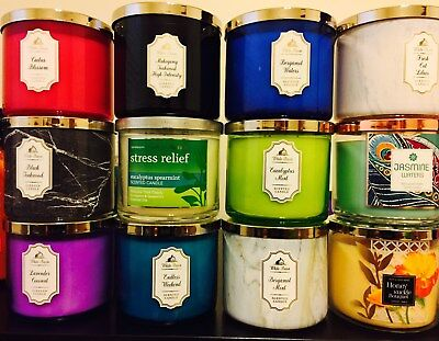 BATH & BODY WORK 3 Wick 14.5 OZ CANDLES:BEST 11 Scents FLAT $19.99! BEST