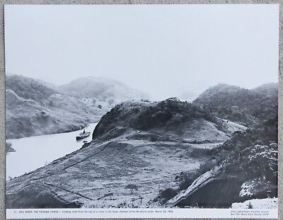 RARE Vintage 11x14 Photograph The Panama Canal Miraflores Locks in March 1932