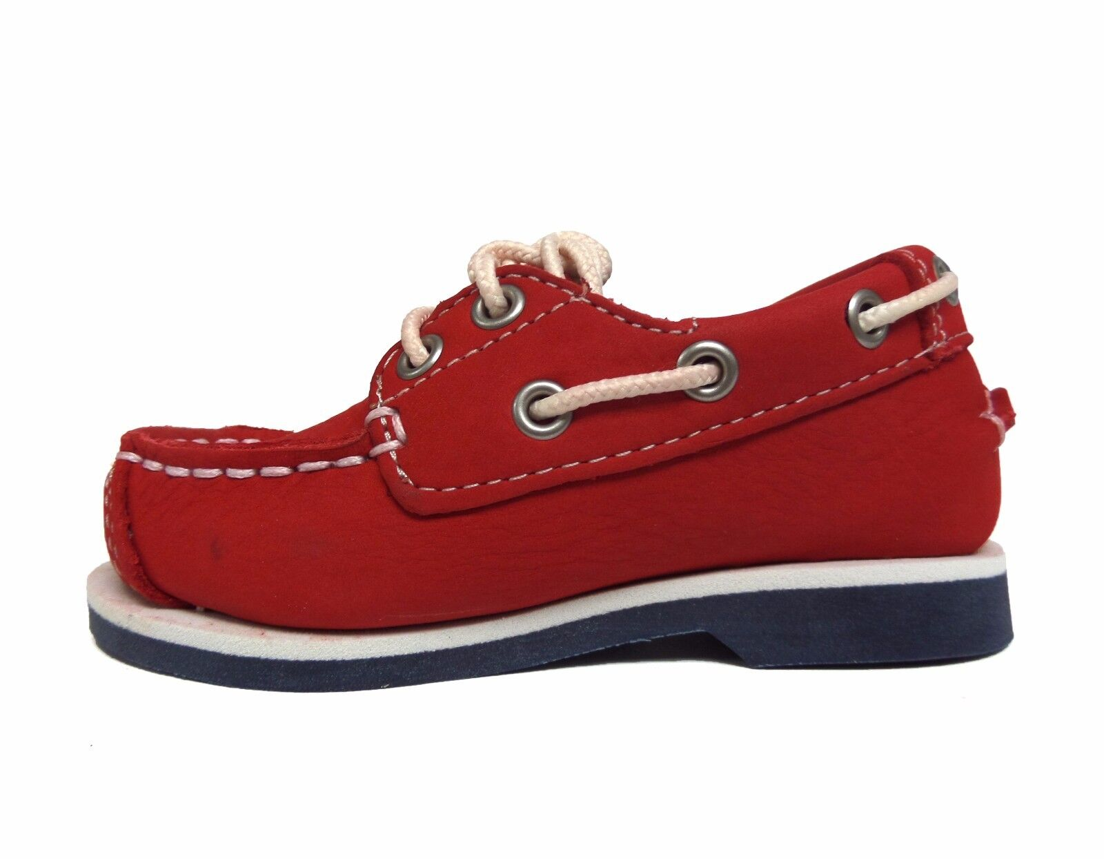 Timberland Kids' Toddler's PEAKS ISLAND 2 EYE BOAT Shoes Red 6886R a2 1
