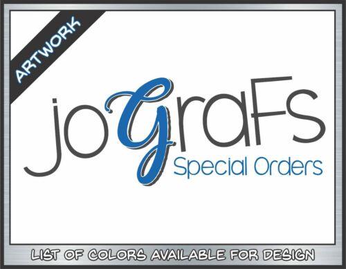 Logo Design - Custom Decals - Special Orders