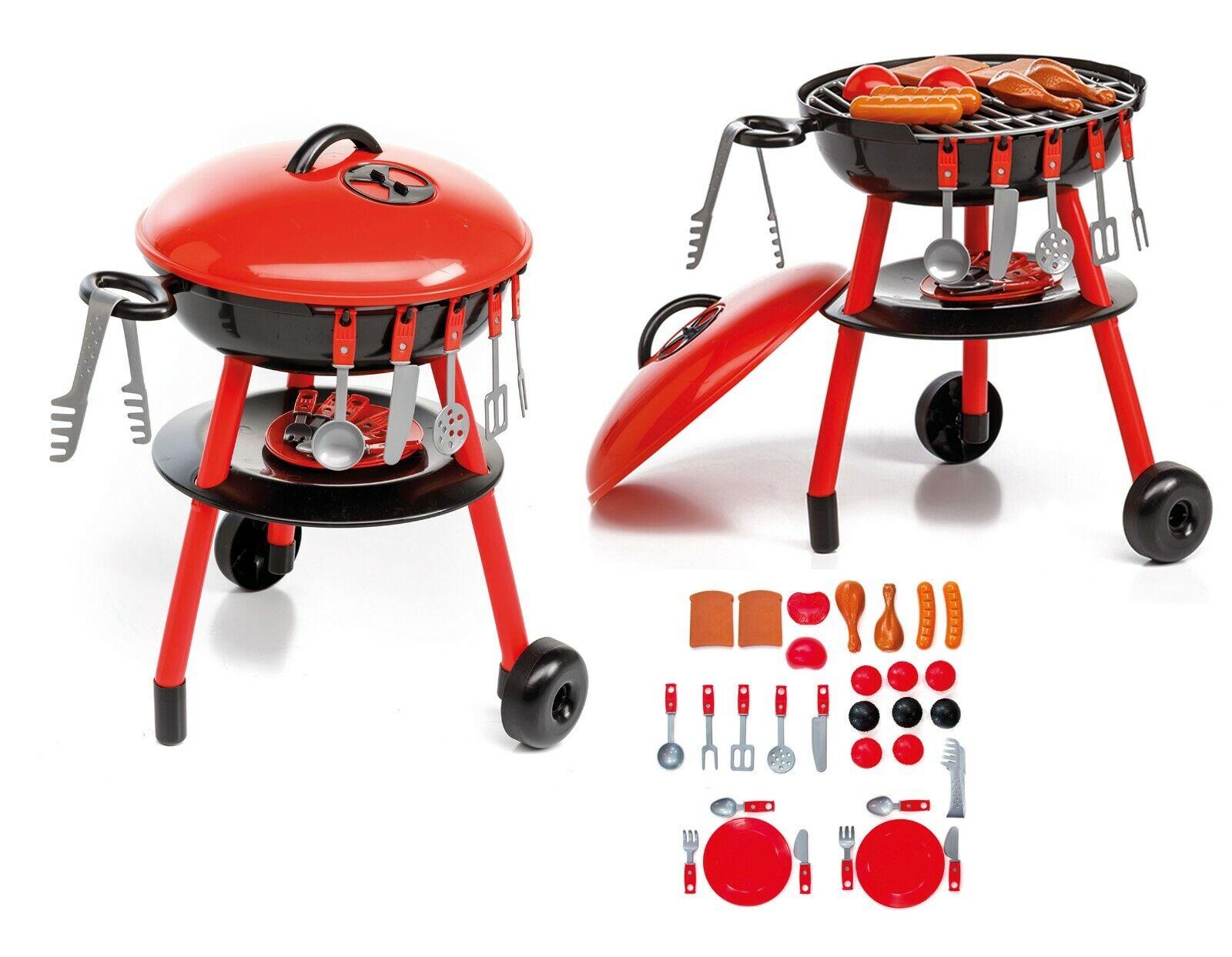 Griller Spielzeug Kugelgrill für Kinder mit viel Zubehör Grillbesteck uvm 229571
