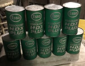 ESSO Motor Oil Cans