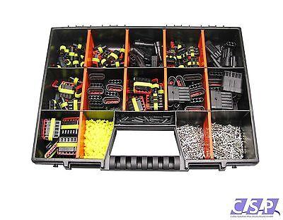 AMP Superseal Sortiment Set 1-6 polig 680 Teilen Stecker Auto KFZ LKW Motorrad