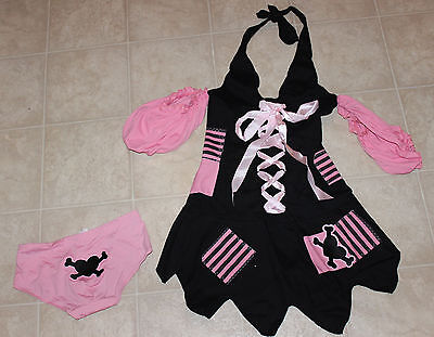 Pirate Outfit For Women (Sweet Nothings Women Sexy Pirate Pink/Black Pirate Outfit Costume Sz: S)