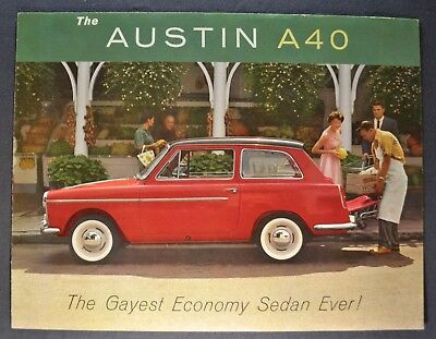 1960 Austin A40 Sales Brochure Folder Excellent Original 60