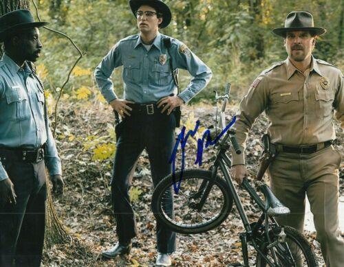 JOHN REYNOLDS signed (STRANGER THINGS) 8X10 photo *OFFICER CALLAHAN* W/COA #2