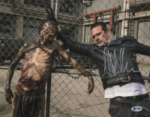 NEEGAN JEFFREY DEAN MORGAN SIGNED AUTO THE WALKING DEAD 11X14 PHOTO BECKETT 35