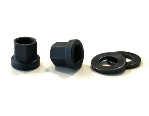 BMX 14mm Axle Nut and Washer Pair Black