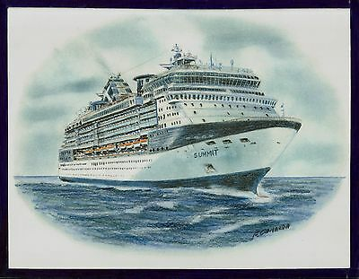 Original Art Work    Gts Summit     Celebrity Cruises   Cruise Ship