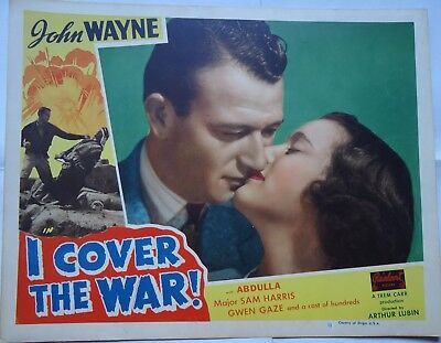 JOHN WAYNE/I COVER THE WAR/ J25/REALART  lobby card  for sale  Shipping to United States