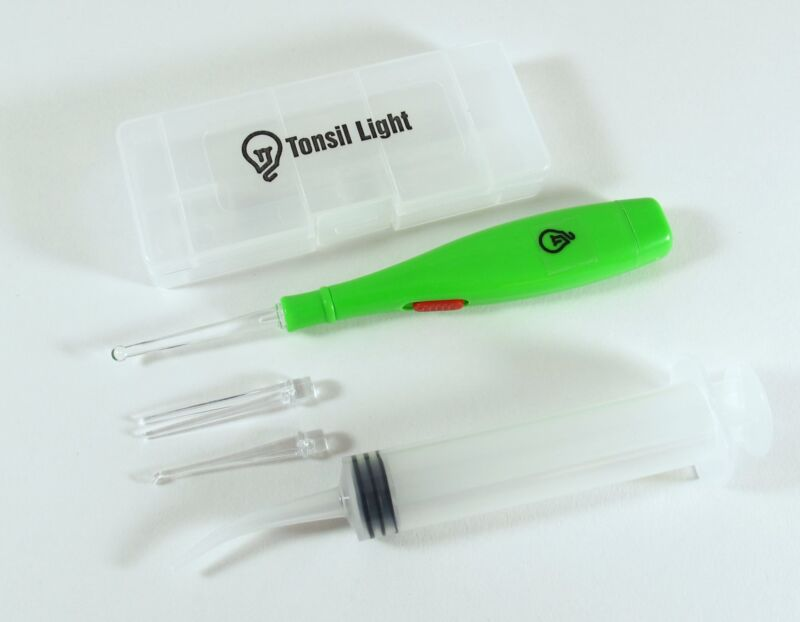 Tonsil Stone Remover Kit With LED Light Irrigation Syringe W