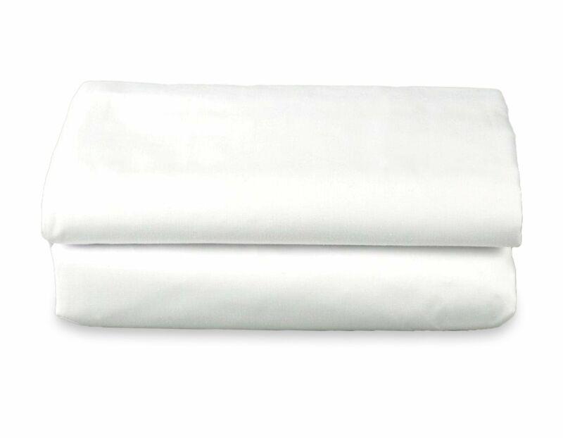 T180 USA White Flat Sheets (Quantity 24)