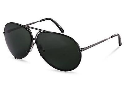 NEW Porsche Design P8478 C 66mm Grey Matte / Green (Sunglasses P 8478)