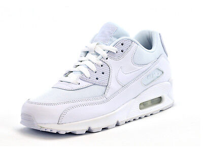 NIKE AIR MAX 90 ESSENTIAL - 537384-111 - MENS TRAINERS - TRIPLE WHITE -BRAND NEW