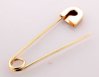 18K Rose Gold Safety Pin Handmade in USA