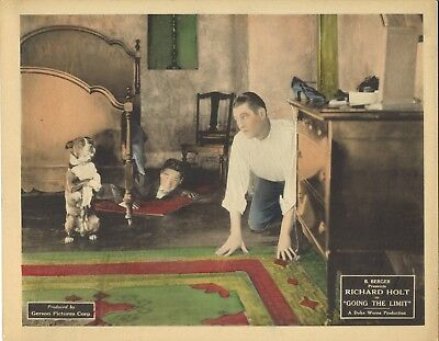 GOING THE LIMIT (1925) Richard Holt Watches Dog Stand on His Hind Legs Silent!