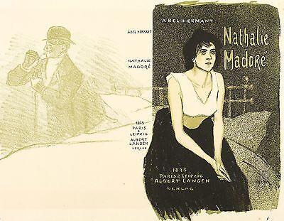 THEOPHILE-ALEXANDRE STEINLEN - NATHALIE MADORE - Farblithografie 1895
