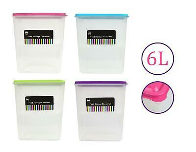 4x Food Storage Container Set Lid Cover Large Box Cereal Cookies Pet Dog Clear Food Storage Box Cover
