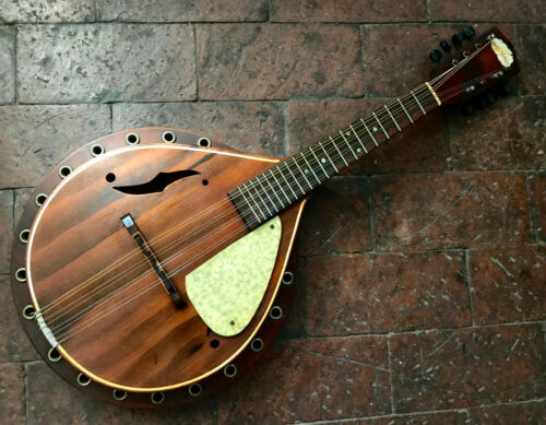 "Rare Vintage 1930s Blue Comet ""Resonator"" Mandolin Regal Gibson A Style Nautical"