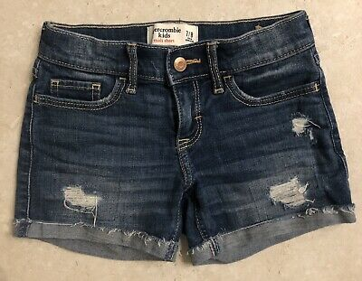 Abercrombie kids girls midi  jean short sz 7/8