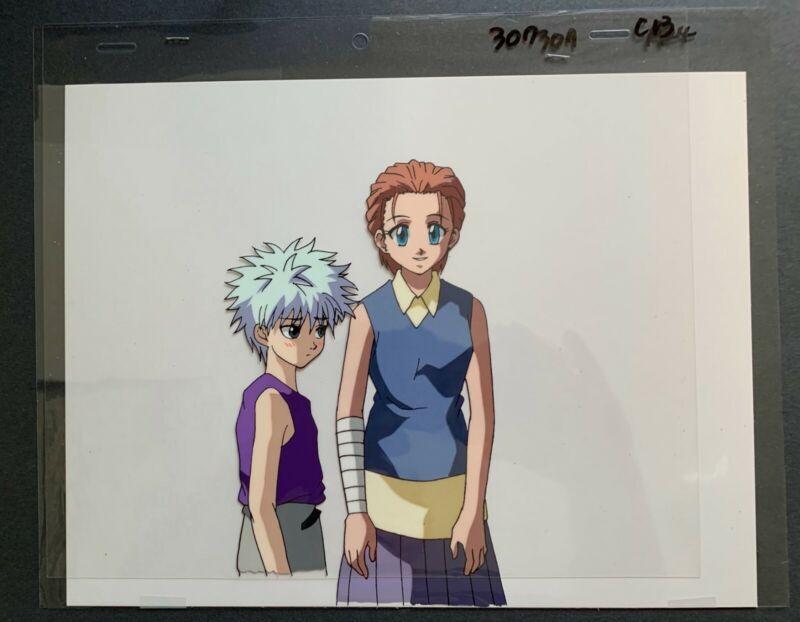 Anime Cel Hunter X Hunter featuring Killua and Mito.
